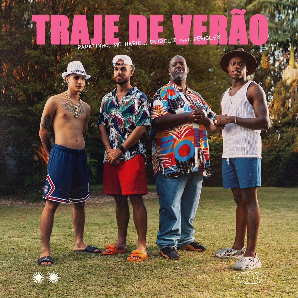 Capa do single 'Traje de verão', de Papatinho com Péricles, Dfideliz e MC Hariel — Foto: Waldir Évora