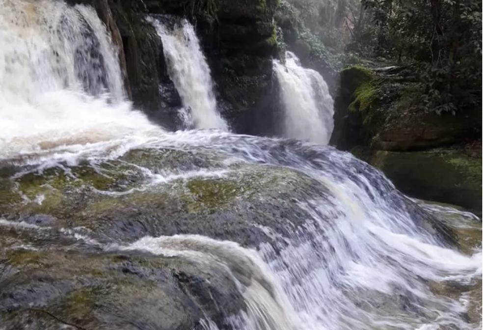 Cachoeira do Santuário em Presidente Figueiredo, no AM — Foto: Divulgação/ Guarda Municipal de Presidente Figueiredo