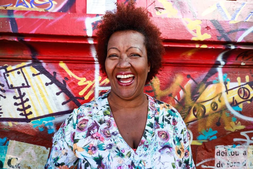 Pastora é coordenadora da tenda do Programa Recomeço, na Rua Helvétia (Foto: Fábio Tito/G1)