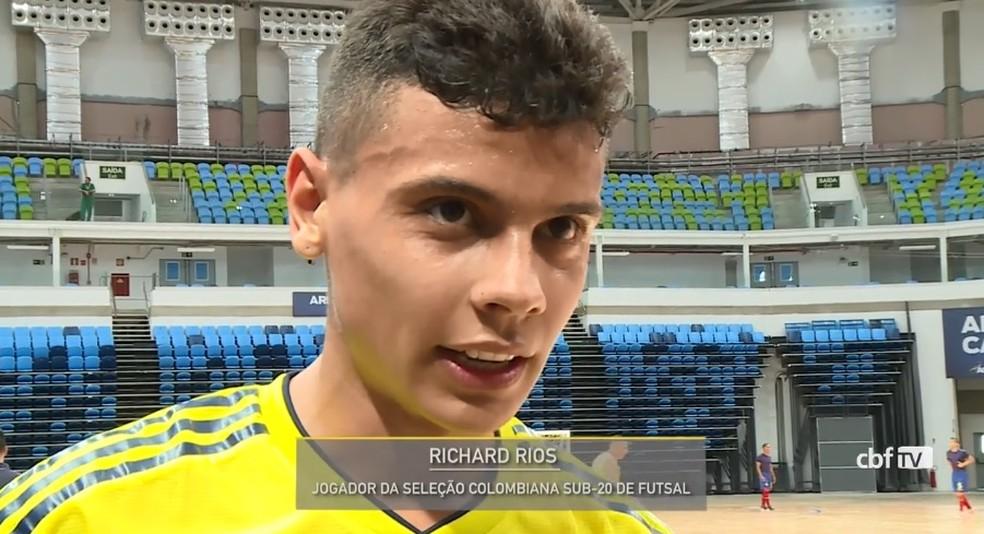 Ríos disputou a Liga Sul-Americana de Futsal no Rio, em 2018, e chamou a atenção do Flamengo — Foto: Reprodução