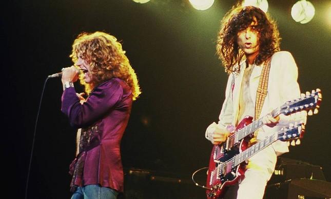 Guitarrista Jimmy Page, em 1977