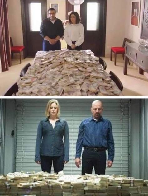Comparação entre cenas de 'Breaking bad' e 'Weld El Ghalaba' (Foto: Reprodução / Facebook)