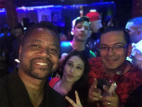 Cuba Gooding Jr. em foto no dia do incidente na boate Magic Hour Rooftop Bar and Lounge (Foto: Instagram)