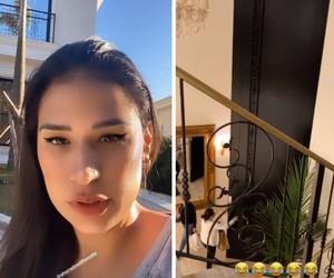 Simone faz vídeo e tamanho da porta de mansão impressiona