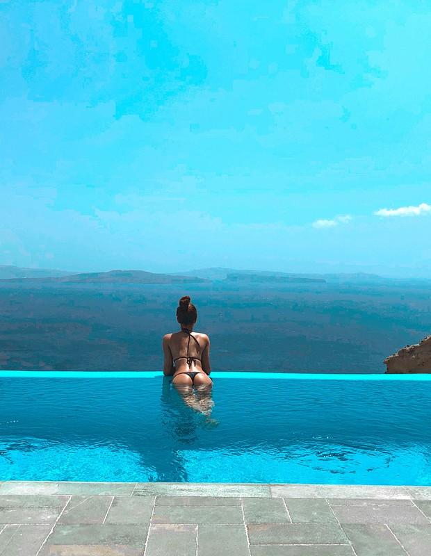 Marina Ruy Barbosa curte férias na Grécia com marido (Foto: Reprodução)
