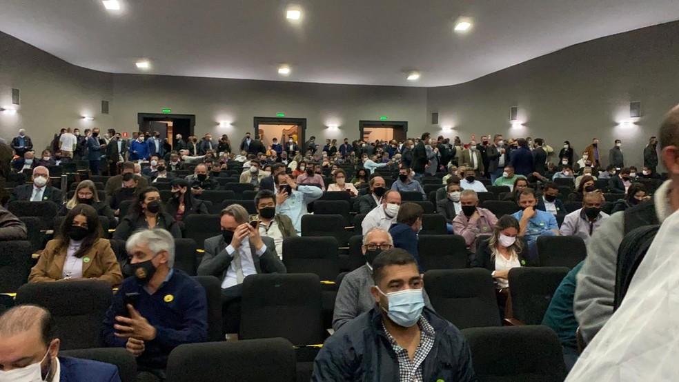 Auditório do Palácio dos Bandeirantes nesta quinta-feira (12), em São Paulo. — Foto: Daniela Geminiani/GloboNews