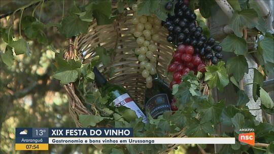 Festa do Vinho reúne gastronomia, feiras e shows nacionais a partir desta quarta-feira em Urussanga