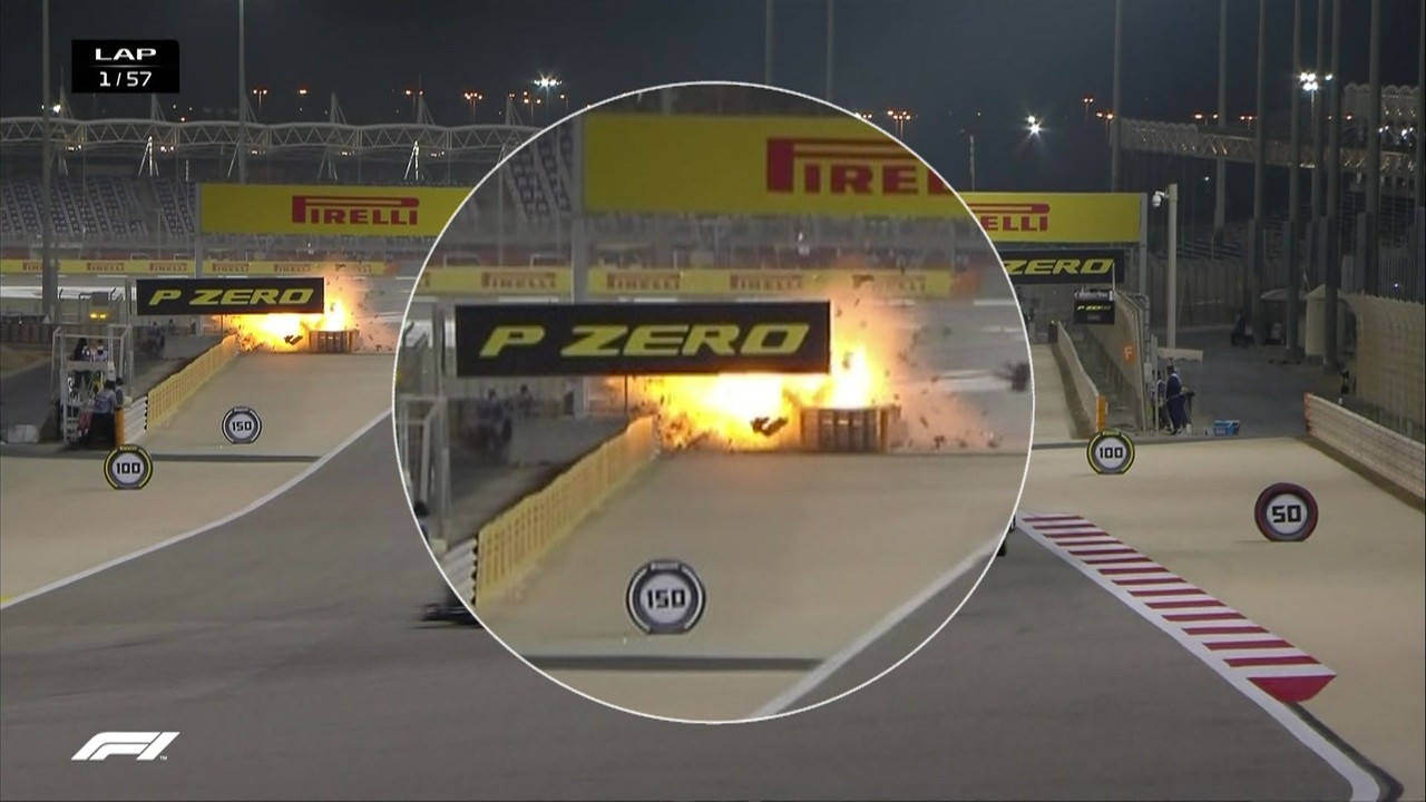 Confira o replay do acidente de Grosjean
