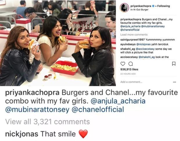 Nick Jonas comenta foto de Priyanka Chopra (Foto: Reprodução/Instagram)