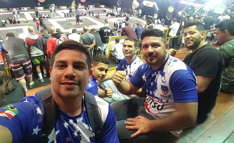 Atletas acreanos estão em São Paulo disputando o Campeonato Mundial de Jiu-Jitsu Esportivo (Foto: Arquivo pessoal)