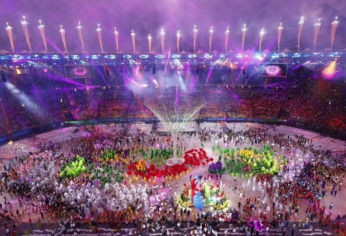 Festa de encerramento Olimpíada Rio de Janeiro Maracanã (Foto: REUTERS / Fabrizio Bensch)