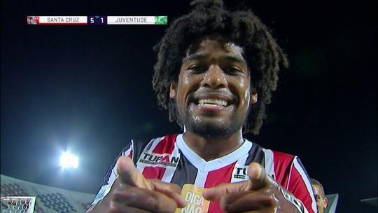 Os gols de Santa Cruz 5 x 2 Juventude pela 38ª rodada do Brasileirão