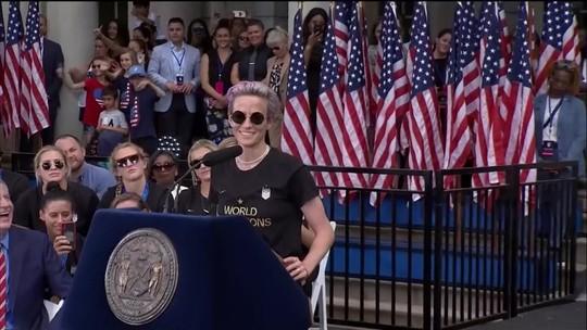 Da infância na pequena Redding à comemoração em Nova Iorque: EE traça um perfil de Megan Rapinoe