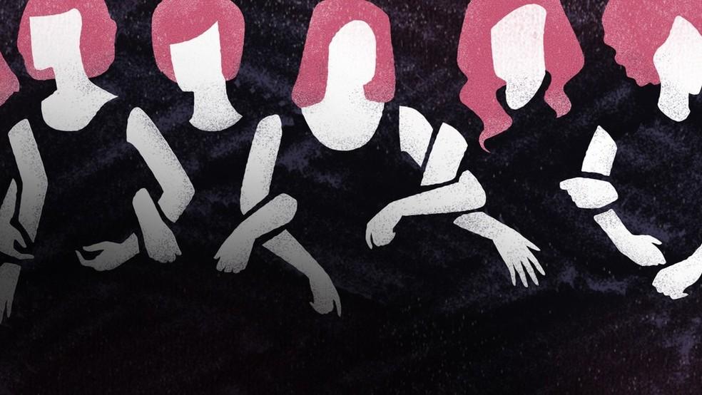 Caso foi registrado como feminicídio.  — Foto: Arte G1