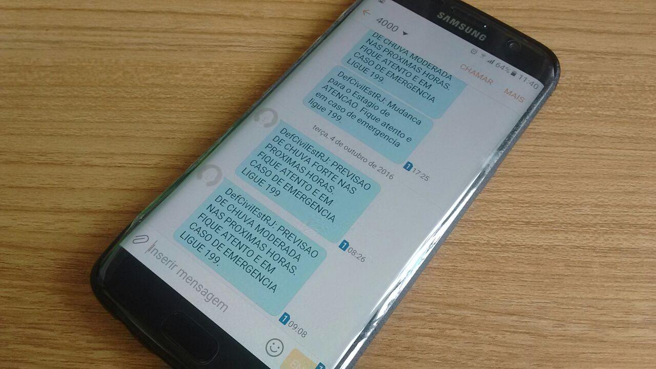 Usuários de MG, MS e GO vão receber alerta de desastres naturais por celular