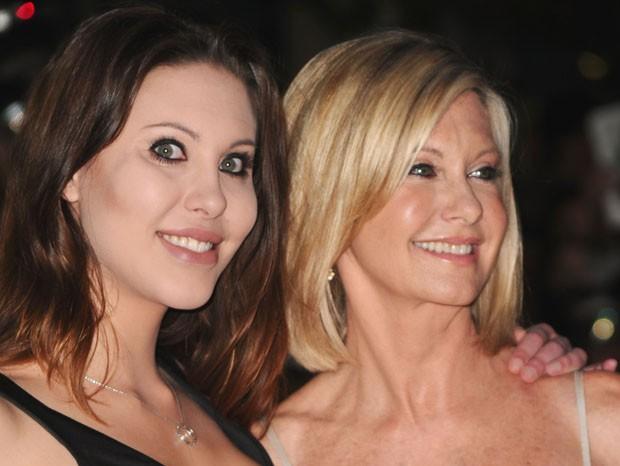 Chloe Lattanzi e a mãe, Olivia Newton-John em 2010 (Foto: Getty Images)