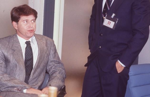 Falabella em cena de 'Mico preto', de 1990, como Zé Luís (Foto: Arquivo)