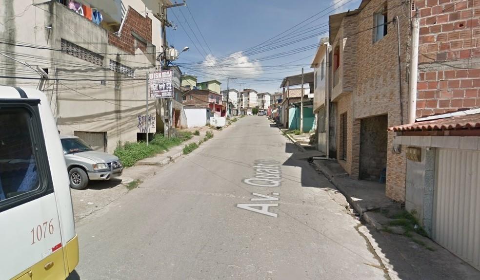 Crime aconteceu na Avenida Quatro, no bairro de Vila Rica, em Jaboatão dos Guararapes — Foto: Reprodução/Google Street View