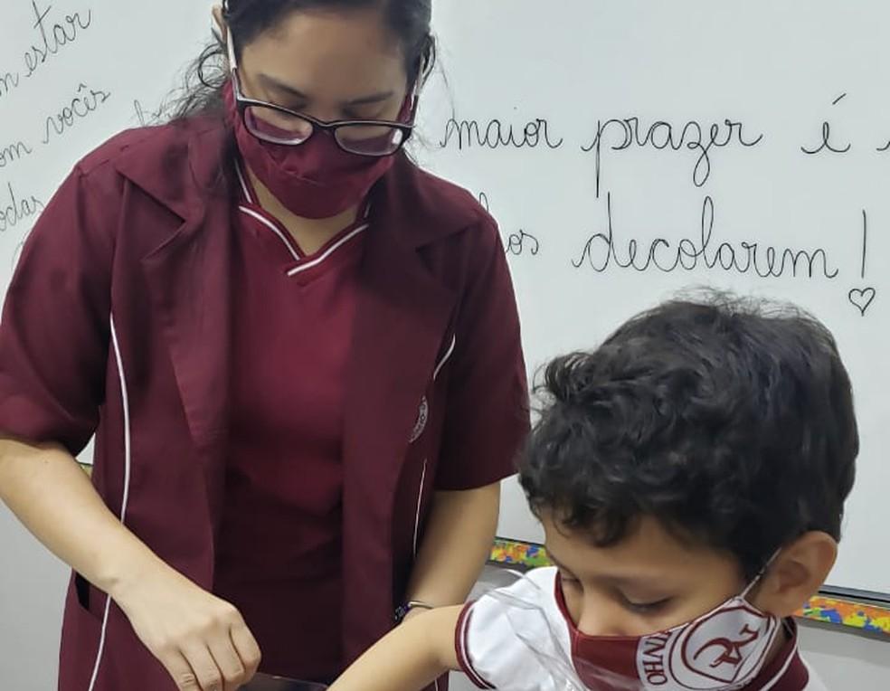 Anna Raíssa Mastop Alves, 27 anos, professora do ensino fundamental de uma escola privada em Manaus: medo de contaminação pela nova variante — Foto: Arquivo Pessoal