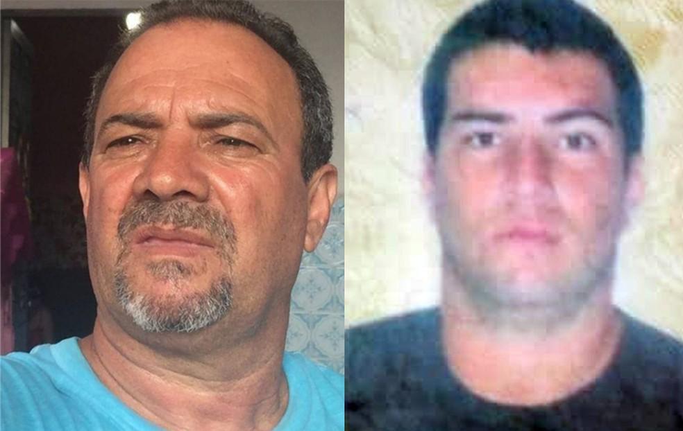 Adeir dos Anjos Peixoto, de 62 anos, e Deivid Sangi, 29 anos, vítimas da queda da viga — Foto: Reprodução/TV Globo