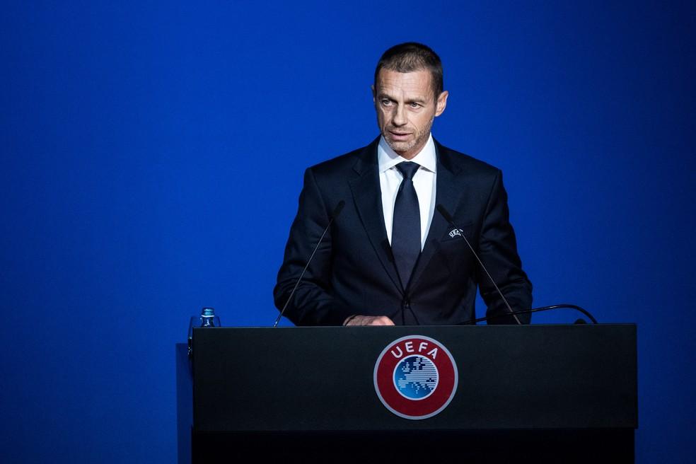Aleksander Ceferin indica que clubes belgas podem ser punidos por fim antecipado da liga — Foto: Getty Images