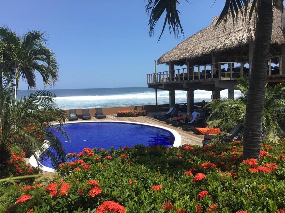 Hotel Casa de Mar, Sunzal, El Salvador — Foto: arquivo pessoal