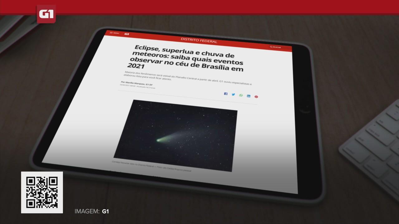 G1 em 1 Minuto: Saiba quais eventos observar no céu de Brasília em 2021