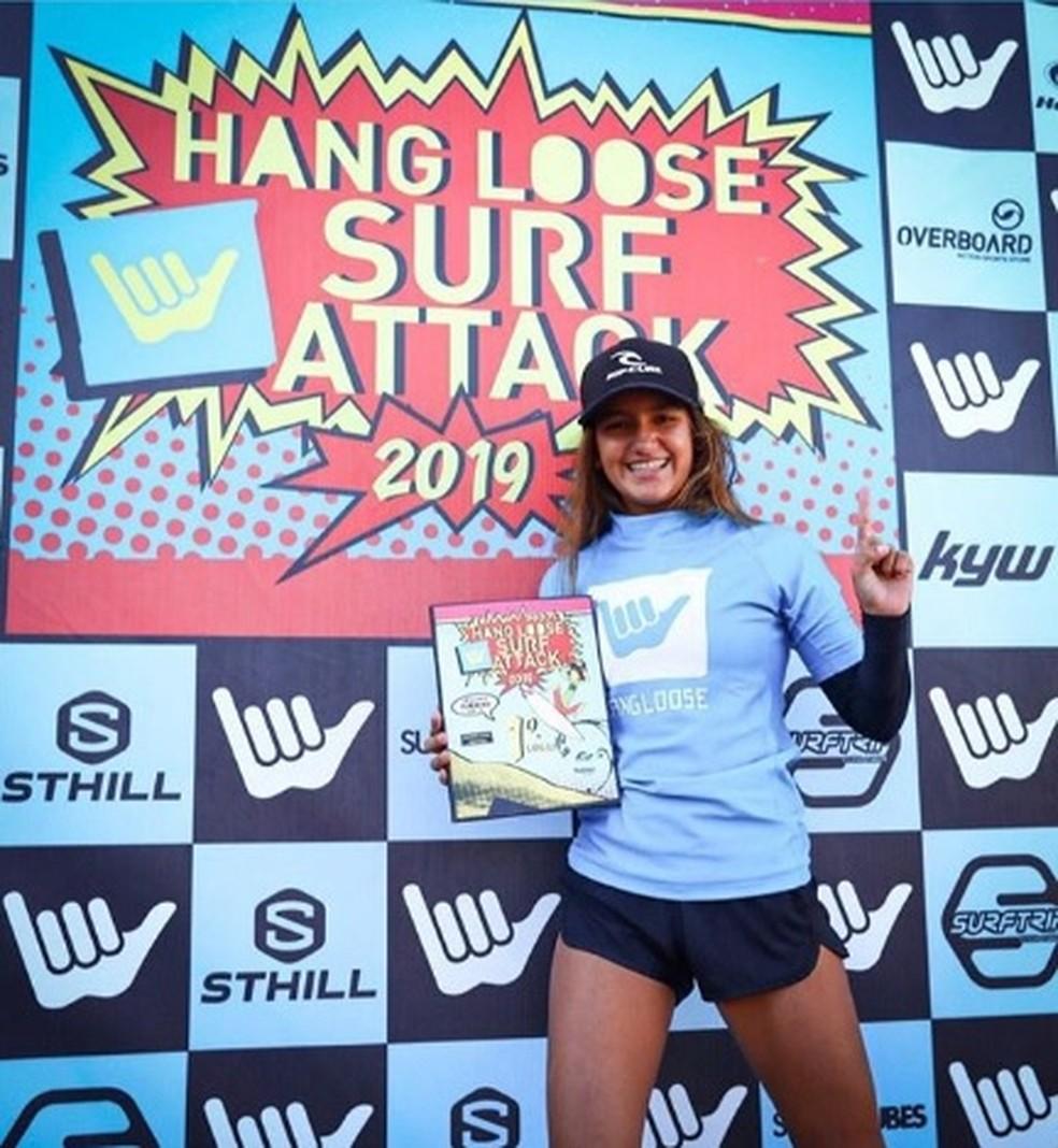 Sophia Medina vence segunda etapa do Surf Attack em Ubatuba — Foto: Munir El Hage/ SurfAttack
