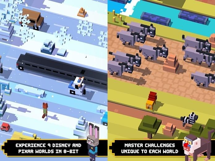 Disney Crossy Road é o novo game com personagens e cenários da Disney (Foto: Divulgação / Disney)