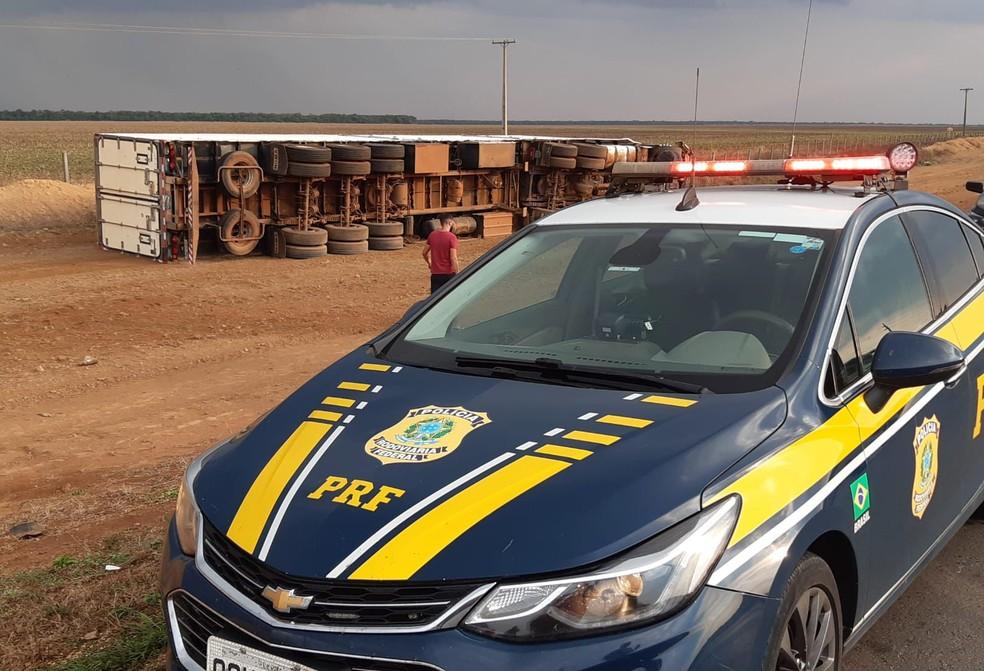 PRF vai investigar as causas do acidente  — Foto: Divulgação