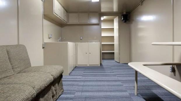 A sala de um dos bunkers da Rising S (Foto: Divulgação)
