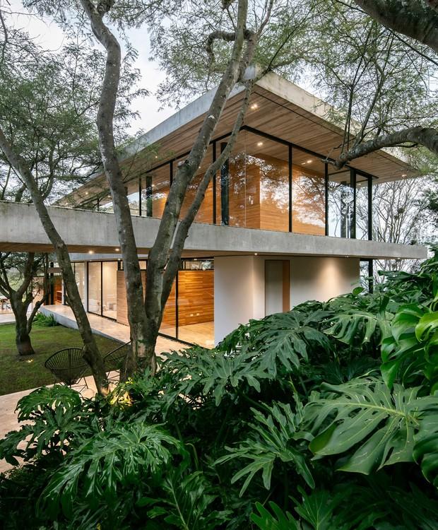 Hastes de metal dão suporte às janelas de vidro, que destacam o verde do vale equatoriano (Foto: Deezen/ Reprodução)