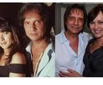 Myrian Rios e Roberto Carlos quando se relacionavam e, à direita, em foto como amigos | Fernando Quevedo e Instagram