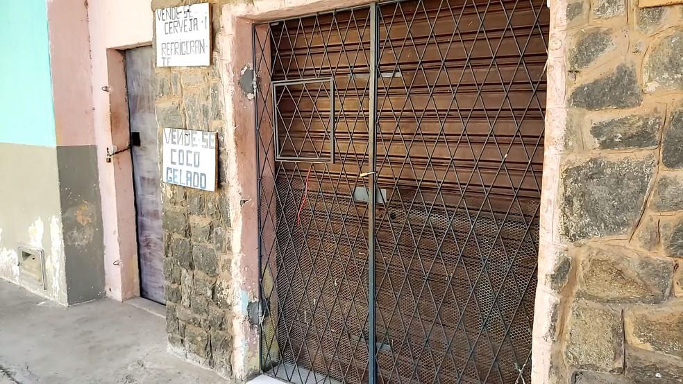 Mercearia onde o crime aconteceu, na Zona Norte de Natal — Foto: Geraldo Jerônimo/Inter TV Cabugi