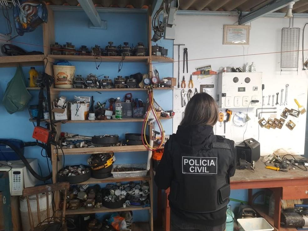 Polícia Civil cumpriu 10 mandados de busca em Gramado Xavier e outras cidades — Foto: Polícia CIvil/Divulgação