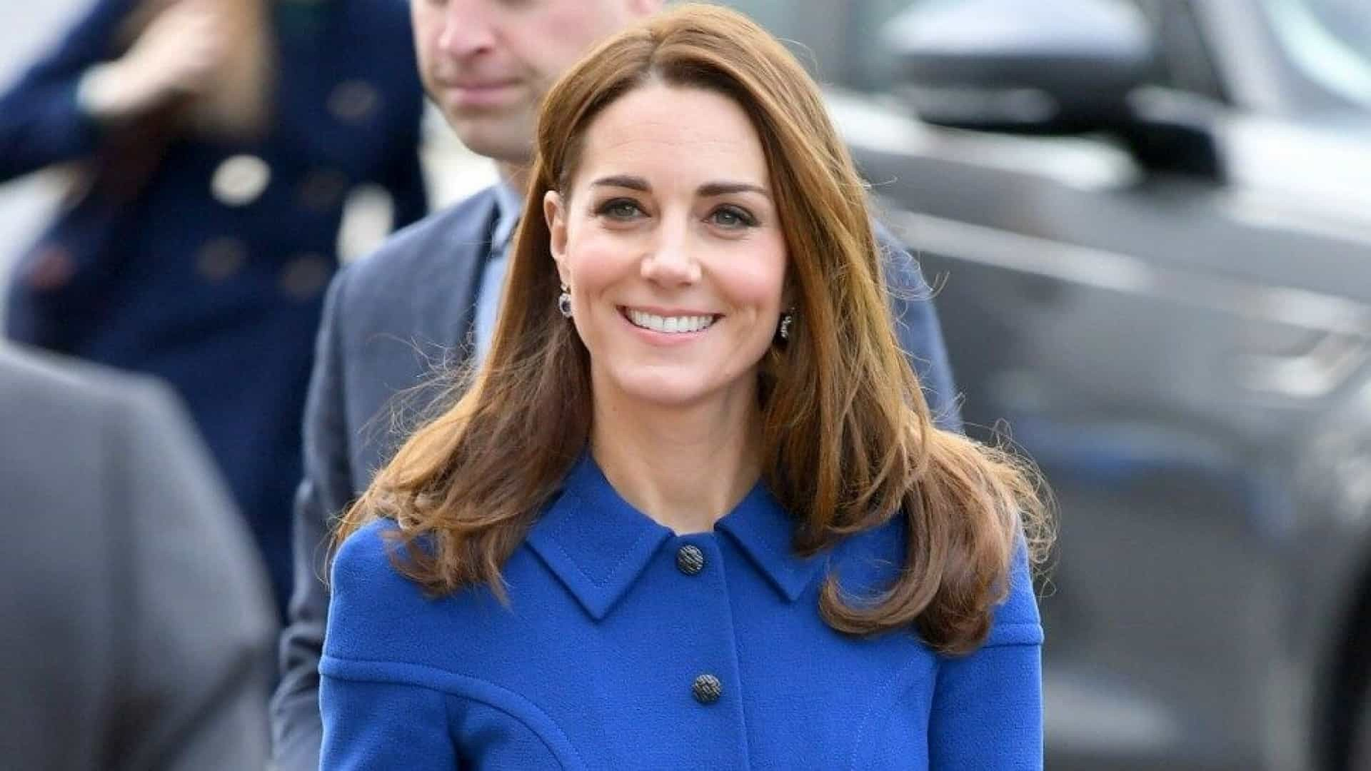 Kate Middleton adora usar os fios com as pontas mais