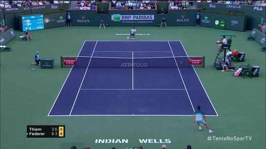 Thiem surpreende Federer de virada e conquista maior título de sua carreira em Indian Wells