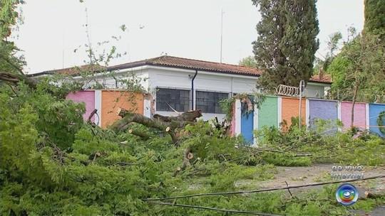 Moradores registram ventania e destruição durante temporal na região de Sorocaba; vídeo