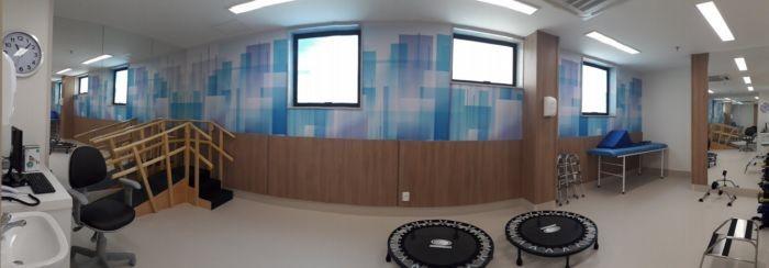 Parte da nova unidade do hospital