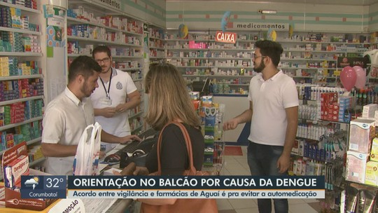 Acordo entre Vigilância em Saúde e farmácias de Aguaí tenta evitar a automedicação contra a dengue