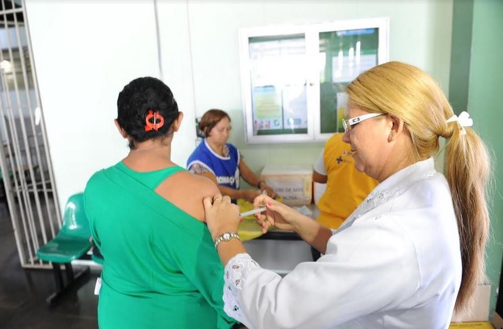Vacinação contra Influenza (Foto: Susam/Divulgação)