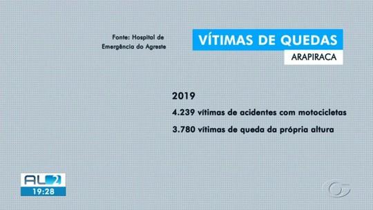 Quedas são a 2ª principal causa de atendimentos no Hospital de Emergência de Arapiraca em 2019