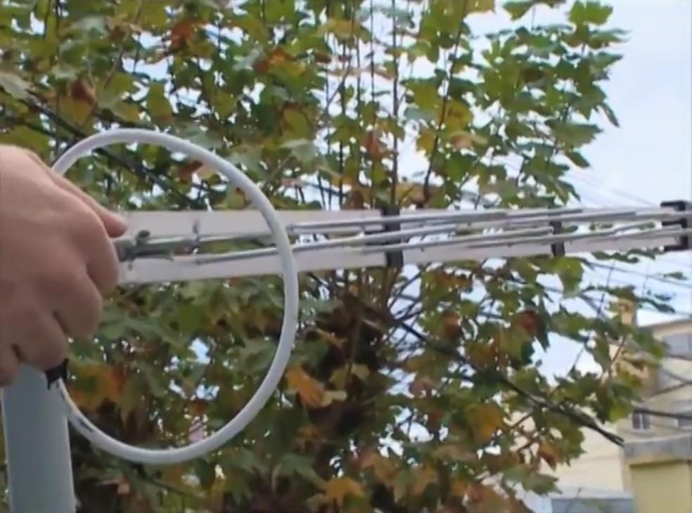 Antena externa é a melhor opção para receber o sinal digital (Foto: Reprodução/RBS TV)