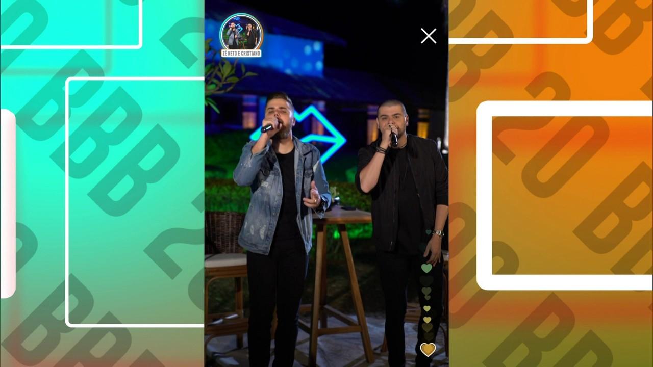 Festa Retrospectivas: Show de Zé Neto e Cristiano no BBB20