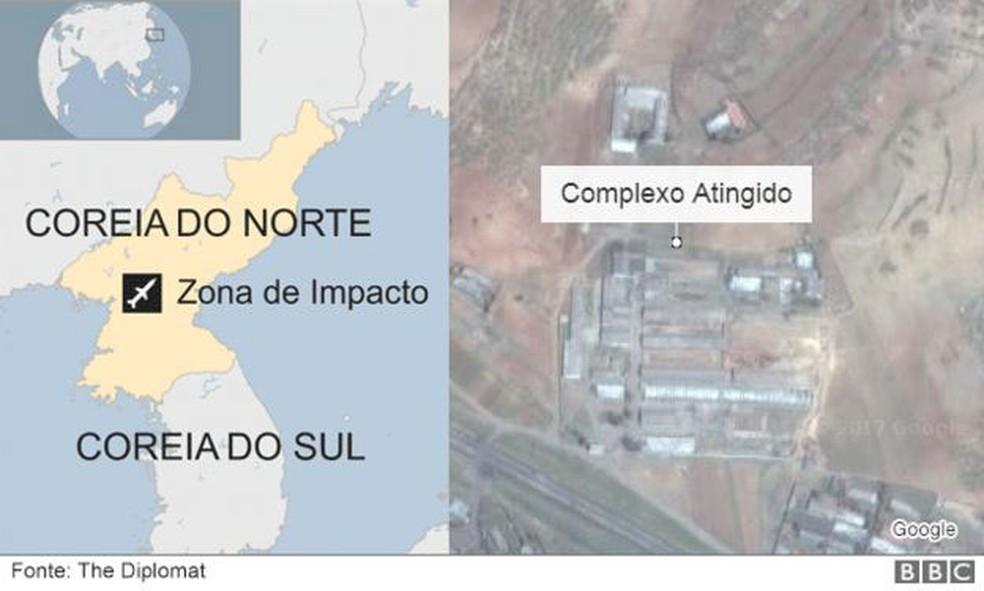 Lançamento de míssil, em 28 de abril de 2017, teria falhado, segundo reportagem (Foto: The Diplomat/ BBC)