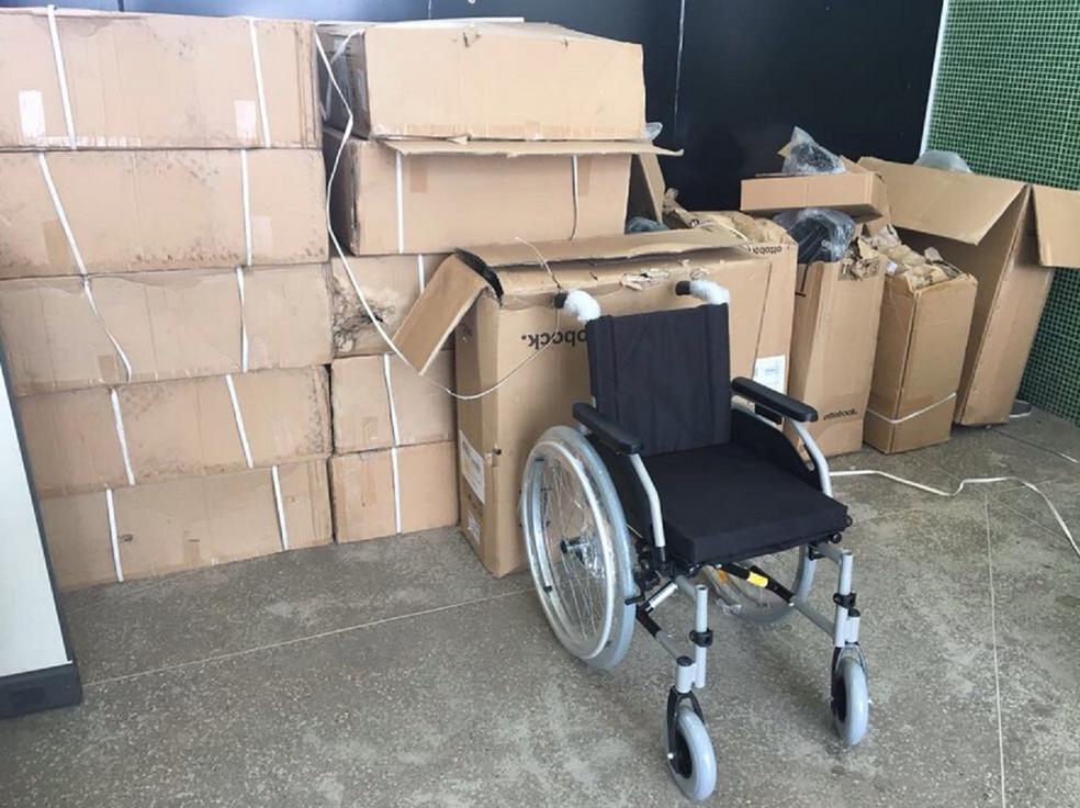 As cargas foram recuperadas em um imóvel localizado na localidade de Tapera em Aquiraz. (Foto: Leandro Silva/Divulgação)
