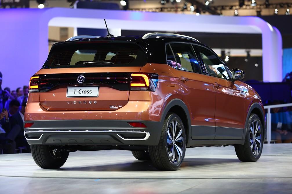 Volkswagen T-Cross faz sua primeira aparição em salões — Foto: Marcelo Brandt/G1