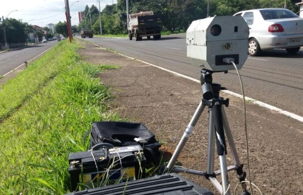 Radar móvel em São Carlos (Foto: ACidadeON/SãoCarlos)