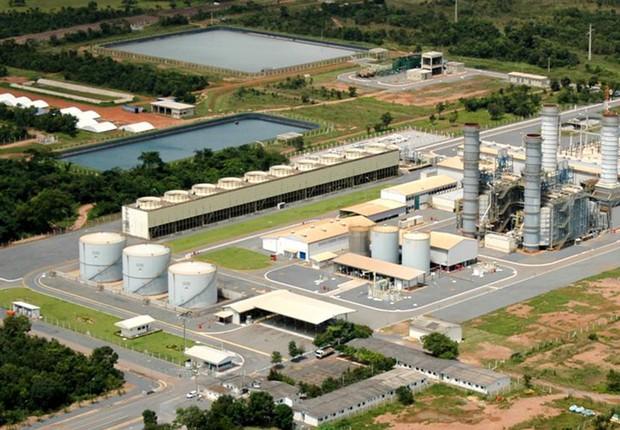 Usina Termelétrica Projeto Integrado Cuiabá, da Âmbar Energia (Foto: Divulgação/Âmbar Energia)