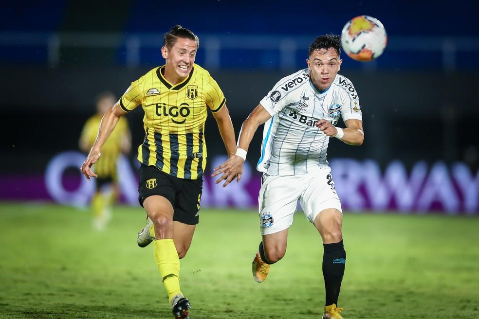 Pepê foi decisivo em vitória do Grêmio com sua velocidade — Foto: Lucas Uebel/Grêmio
